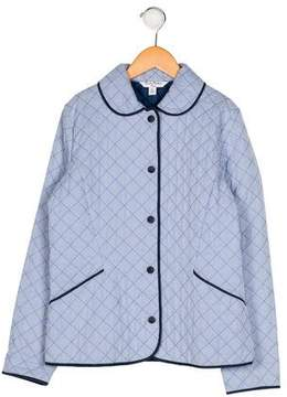 Brooks Brothers Girls' Quilted Collared Coat