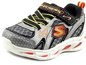 Skechers S Lights-ipox-rayz Toddler Round Toe Synthetic Gray Sneakers.