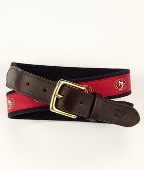 Vineyard Vines San Francisco 49ers Canvas Club Belt