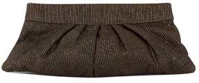Lauren Merkin Brown & Gold Striped Clutch