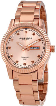 Akribos XXIV Rose Dial Ladies Watch