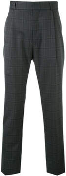 H Beauty&Youth checked pleated trousers