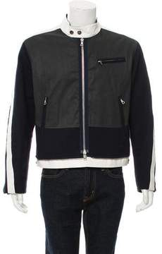Dries Van Noten Colorblock Wool Zip-Up Jacket
