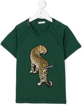 Dolce & Gabbana leopard appliqué T-shirt