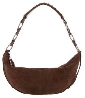 Saint Laurent Small Suede Hobo - BROWN - STYLE