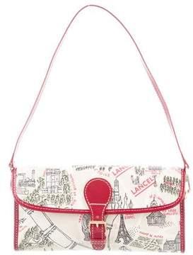 Lancel Canvas Print Shoulder Bag