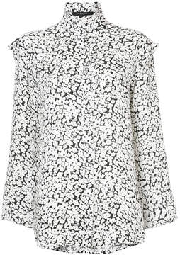 Derek Lam Long Sleeve Button-Down Blouse With Ruffle Detail