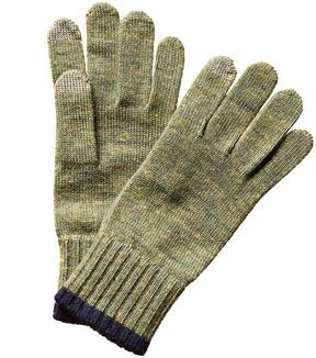 Portolano Men's Green Wool Gloves