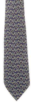 Hermes Bubble Print Silk Tie
