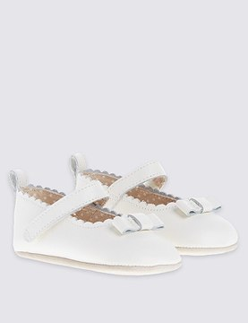 Marks and Spencer Baby Leather Riptape Cross Bar Shoes