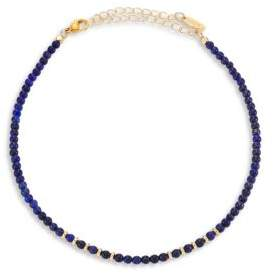 Ettika Still Surprise You Lapis Beaded Choker Necklace
