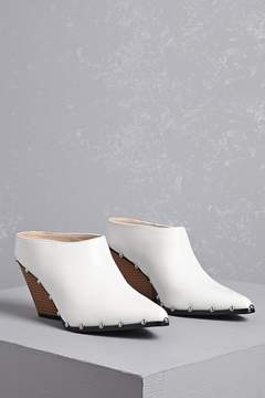 Forever 21 Studded Faux Leather Mules