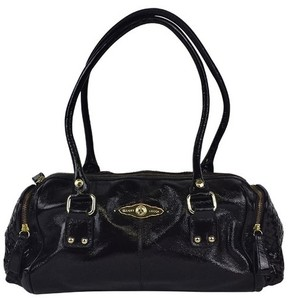 Elliott Lucca Elliot Lucca- Dark Brown Patent Leather Shoulder Bag