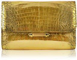 Judith Leiber Couture Sloane Crocodile Clutch Bag