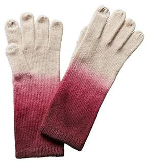 Sofia Cashmere sofiacashmere Sofiacashmere Touchscreen Dip Dye Cashmere Gloves.