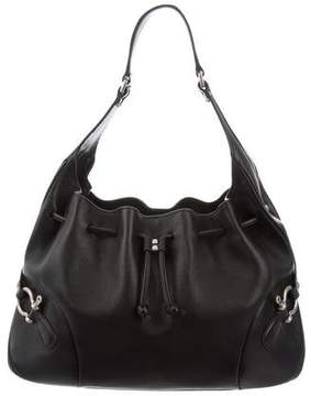 Burberry Drawstring Leather Hobo