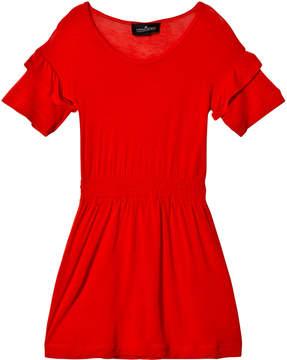 Little Remix Red Ruffle Dress