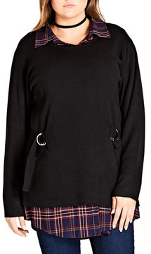 City Chic Plus Size Women's D-Ring Sweater