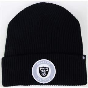 '47 Oakland Raiders Ice Block Cuff Knit Hat