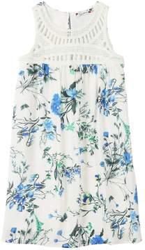 Speechless Girls 7-16 Floral Crochet-Yoke Dress