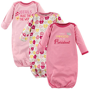 Luvable Friends Pink 'Forget Princess Call Me the President' Gown Set - Newborn