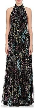 Valentino Women's Floral Silk Halter Maxi Dress