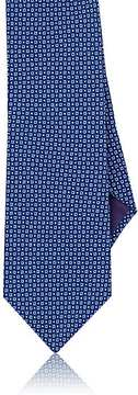 Ralph Lauren Purple Label Men's Square-Print Mulberry Silk Crepe Necktie