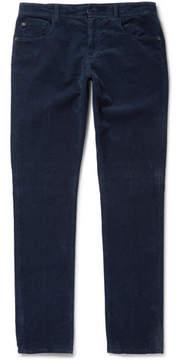Boglioli Slim-Fit Stretch-Cotton Corduroy Trousers