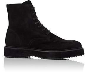 Barneys New York Men's Oiled Suede Side-Zip Boots