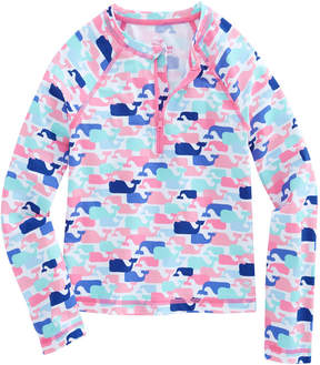 Vineyard Vines Girls Multi Whale Rash Guard