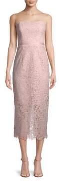 Shoshanna Ella Corded Lace Strapless Dress