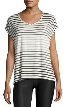 Beyond Yoga Bring It Ommmbre Striped Top, Gray Pattern