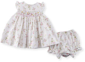 Luli & Me Flower-Print Dress w/ Bloomers, Size 3-24 Months
