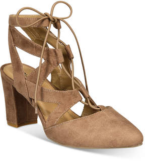 Rialto Milly Block-Heel Lace-Up Pumps Women's Shoes