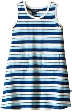 Toobydoo Tank Dress Multi Blue Stripe (Infant/Toddler)