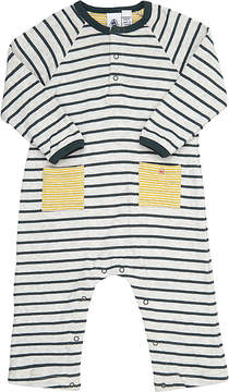 Petit Bateau STRIPED DOUBLE-FACED COTTON JERSEY BODYSUIT