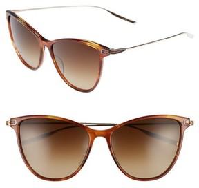 Salt Women's 58Mm Polarized Cat Eye Sunglasses - Butterscotch White Gold