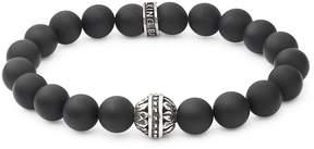 King Baby Studio Men's Black Onyx and Sterling Silver Bracelet
