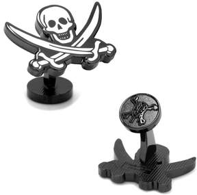 Disney Pirates of the Caribbean Black Pearl Flag Cuff Links