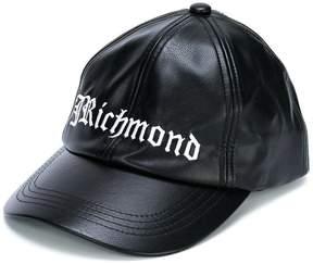 John Richmond Kids leather look logo baseball cap