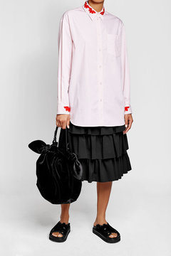 Simone Rocha Double Bow Velvet Bag
