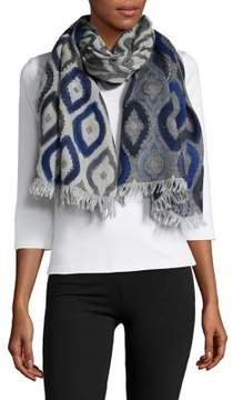 Bindya Diamond-Printed Wool Scarf