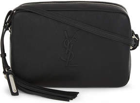 Saint Laurent Monogram Lou leather cross-body bag - BLACK - STYLE