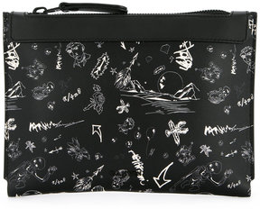 Lanvin illustrated clutch