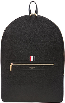 Thom Browne Pebble Grain Backpack in Black.