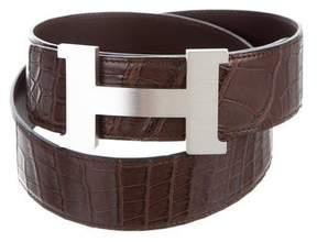 Hermes Porosus Crocodile Reversible Constance 42mm Belt Kit