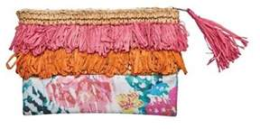 San Diego Hat Company Women's Clutch With Fringe And Flower Print Bsb1718.