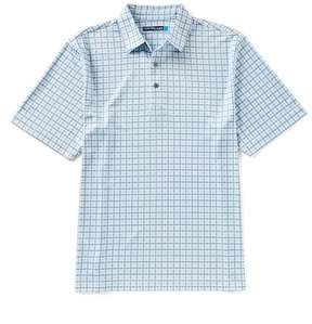 Roundtree & Yorke Performance Short-Sleeve Print Polo