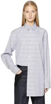 Diesel Black Gold Striped Cotton Poplin Shirt