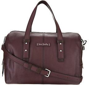 Vera Bradley As Is Gallatin Leather Satchel Handbag - ONE COLOR - STYLE